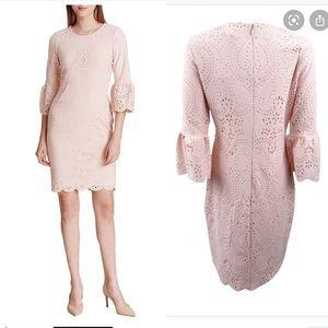 Calvin Klein Bell Sleeves Cocktail Sheath Dress